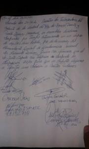 Acta de acuerdo provisorio de levantamiento de la medida  28-05-2015
