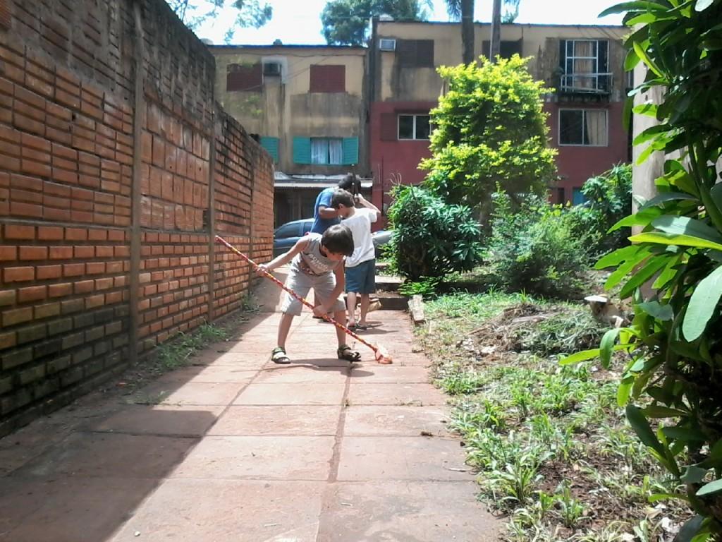 """La campaña del día """"D"""", se realizó en el complejo habitacional de las 300 viviendas del barrio Igancio Abiarú, (Iprodha)"""